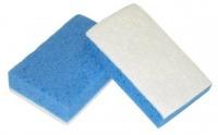 Light blue sponge with No scratch fibre