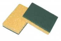 Cellulose sponge with Abrasive fibre