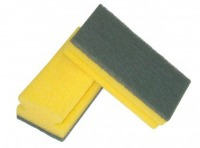Shaped nail saver sponge with Abrasive fibre