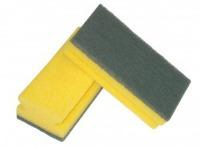 Shaped nail saver sponge with Abrasive fibre